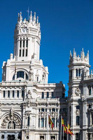 Plaza de la Cibeles Cybeles Square - Central Post Office Palacio de Comunicaciones, Madrid, Spain.