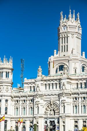 Madrid,Spain-May 27,2015: Cibeles Palace and fountain at the Plaza de Cibeles in Madrid, Spain