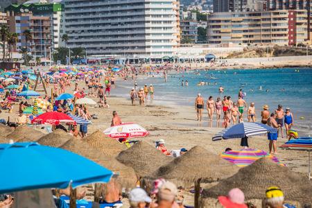 Benidorm,Spain- September 11,2016:levante beach in alicante Spain