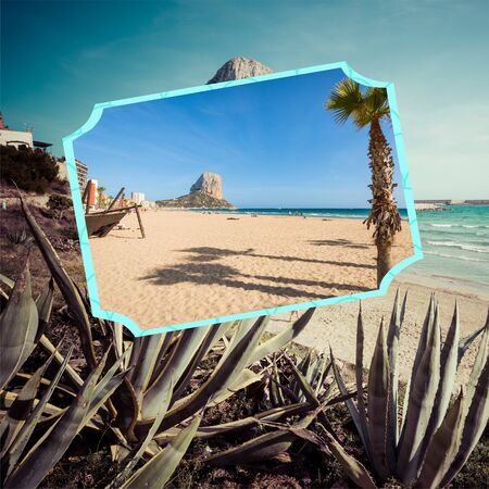 Collage of Calpe Spain. europe Stock Photo