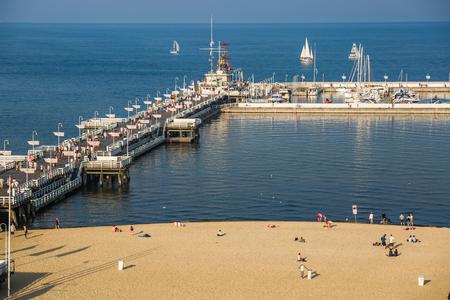 Sopot,Poland-September 7,2016: Sopot pier molo in Poland