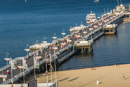 Sopot,Poland-September 7,2016: Sopot pier molo in Poland