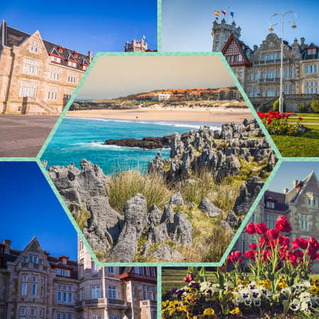 Collage of Cantabria Spain. Stock Photo