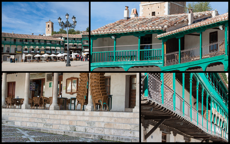 spanish home: Collage of Chinchon Spain Stock Photo