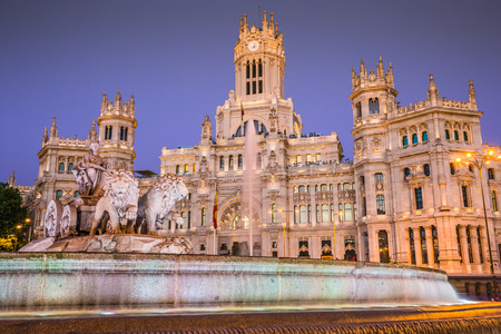 Plaza de la Cibeles (Cybeles Square) - Central Post Office (Palacio de Comunicaciones), Madrid, Spain. Editorial