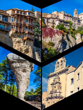 Collage of Cuenca Spain Europe.
