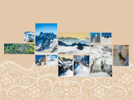 Collage of Chamonix France. Stock Photo