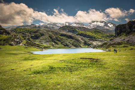 Lake Ercina. Cantabrian. Covadonga. Asturias. Spain.