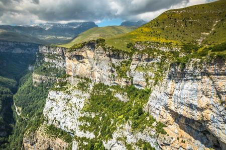 Pyrenees Mountains landscape - Anisclo Canyon in summer. Huesca,Spain Banco de Imagens