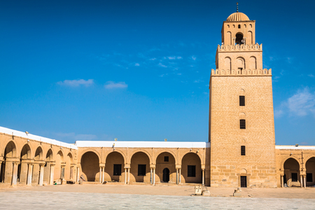 The Great Mosque of Kairouan (Great Mosque of Sidi-Uqba), Tunisia 版權商用圖片