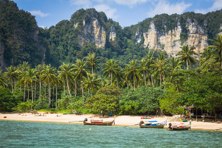 Exotic Ao Nang Beach, Krabi Province, Thailand