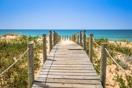 Beach of Faro, Algarve, Portugal