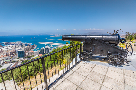 Gibraltar cannon. Gun in Giblartar