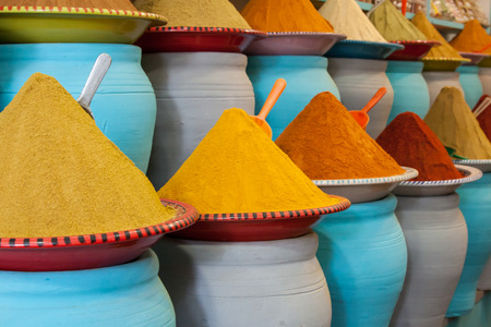 Spices at the market Marrakech, Morocco Imagens