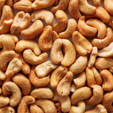 Cashew nuts food background or texture Standard-Bild