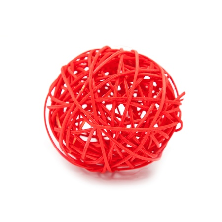 Red tangle.  Isolated on white background.