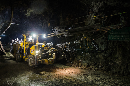 Large mine machine for the extraction of minerals Stockfoto