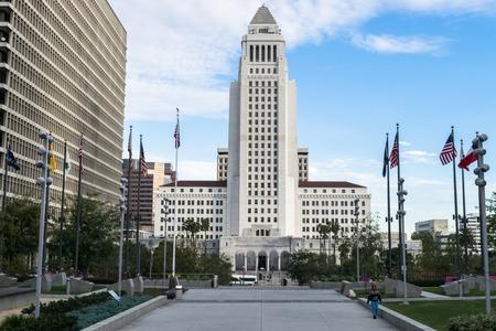 Los Angeles, Californie, États-Unis paysage urbain du centre-ville à l'hôtel de ville.