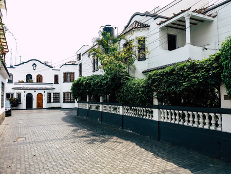 Styles of buildings and houses of Miraflores in Lima - Peru.