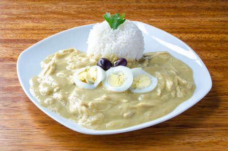 Aji de gallina, typical dish from Peru.