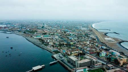 Aerial view of the district of La Punta located in Callo in Lima - Peru Standard-Bild