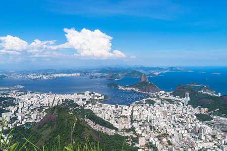 Rio de Janeiro. Brazil. View of the city from mount Corcovado.
