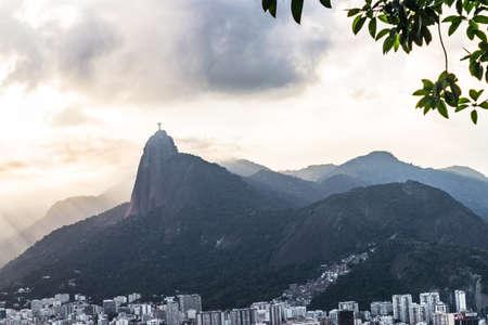 Aerial view of Rio de Janeiro with Christ Redeemer and Corcovado Mountain. Brazil. Latin America Standard-Bild