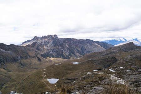 Landscape of Santa Cruz Trek, Huascaran National Park in the Andes of Peru.