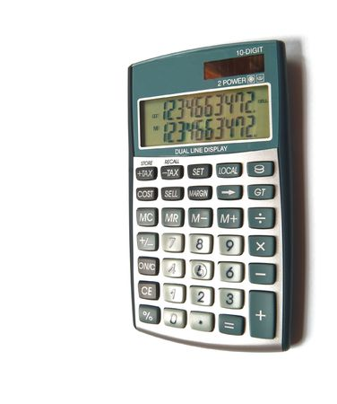 calculator is isolated on a white background Stock Photo - 5997865