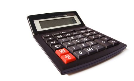 calculator is isolated on white Stock Photo - 5997866