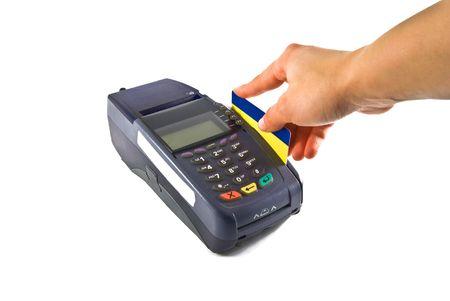 Credit card reader and credit card