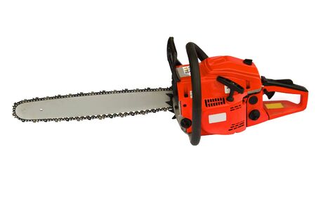 chainsaw isolated on white background