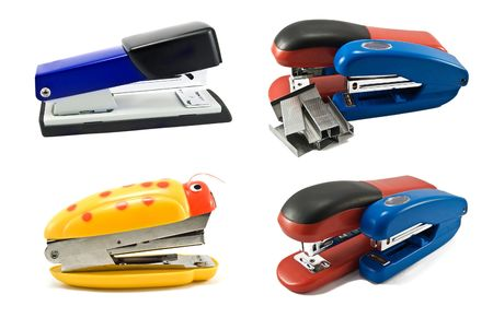 stapler isolated on a white background photo