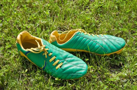 cleats is on the soccer field photo