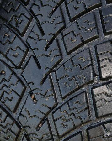 Brand new, high performance summer tire. Close up photo