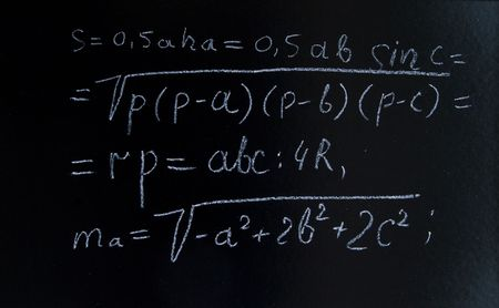a complex formulae on a blackboard Stock Photo - 7401989