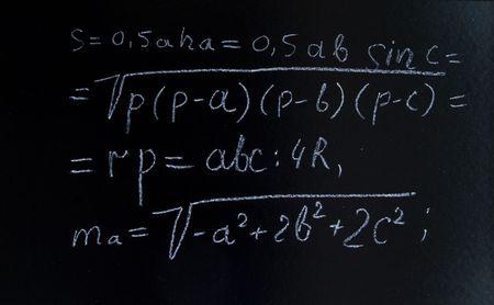 a complex formulae on a blackboard Stock Photo - 7401989