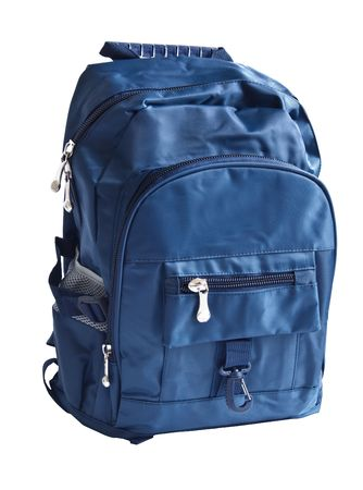 school backpack is isolated on white