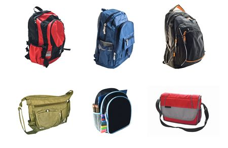 school backpacks is isolated on white background Stock Photo - 7547215