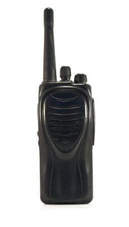 cb phone: police transceiver isolated on a white background