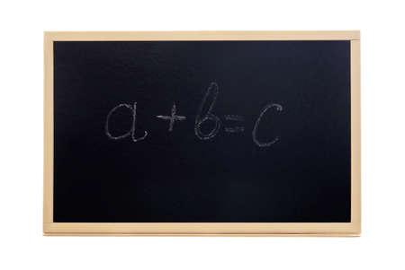 formulae: a complex formulae on a blackboard