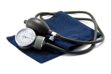 sphygmomanometer, the instrument used to measure blood pressure, Stock Photo