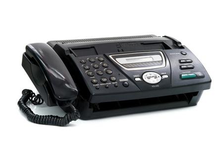 Fax ist auf einem weißen Hintergrund isoliert