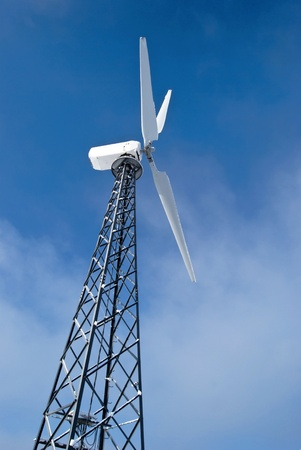 wind turbine is on a background sky Stock Photo - 10038545