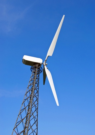 wind turbine is on a background sky Stock Photo - 11298913