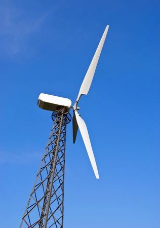 wind turbine is on a background sky Stock Photo - 11298913