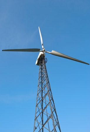 wind turbine is on a background sky Stock Photo - 11298911