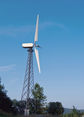 wind turbines is on a background sky Stock Photo - 11298912