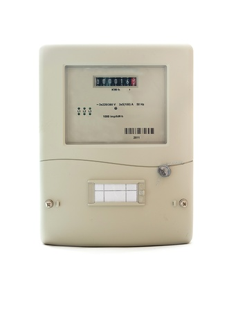 electric automatic meter on a white background photo