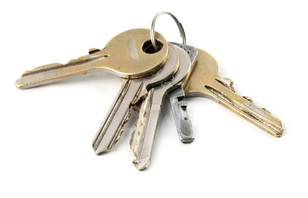 the keys are isolated on a white background